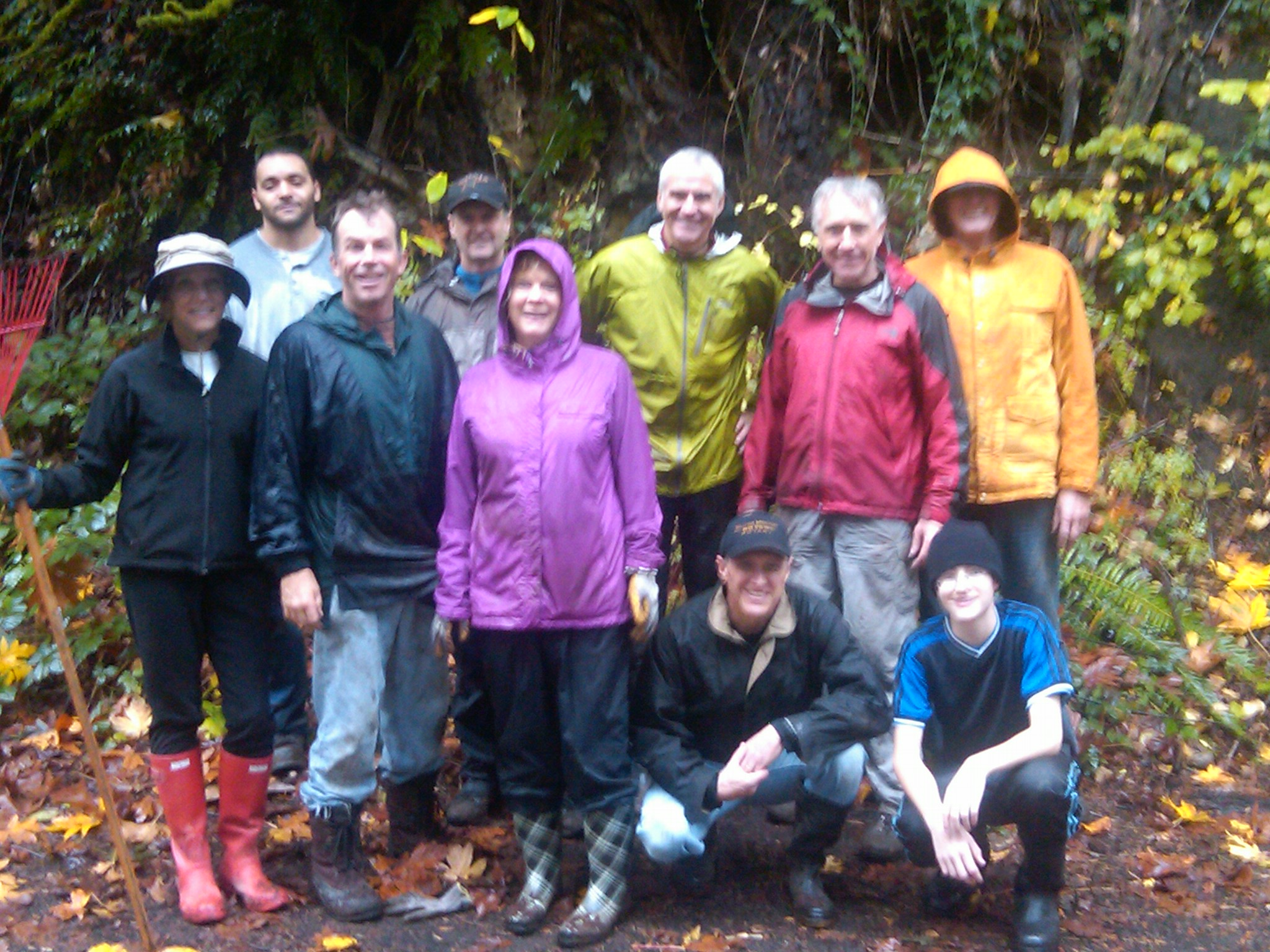 The Preserve Planet Earth Committee after their first work party in the Mercer Slough - 27th October 2012