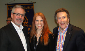 DG Steve Lingenbrink, Wendi Fischer, and Past DG Stan Dickison