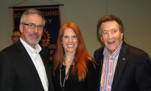 DG Steve Lingenbrink, Wendi Fischer, and Past DG Stan Dickison