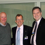 Jim Zidar, Pres. Chris, and Jeff Cashman